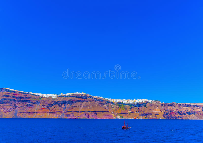 I den Santorini ön i Grekland royaltyfri foto
