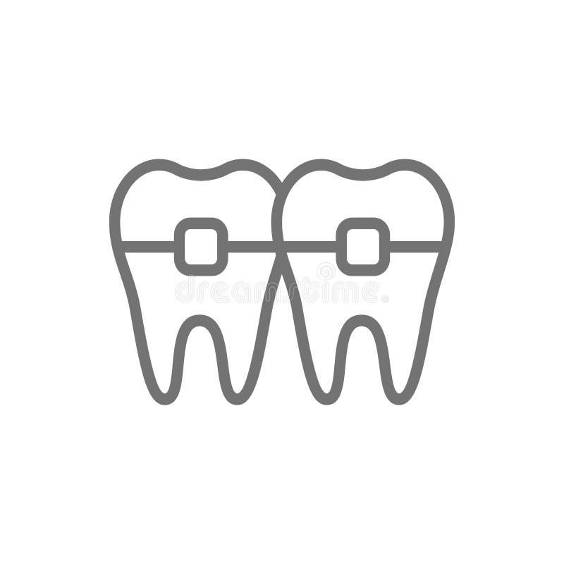 I denti con i ganci, ortodonzia, sostegni allineano l'icona royalty illustrazione gratis