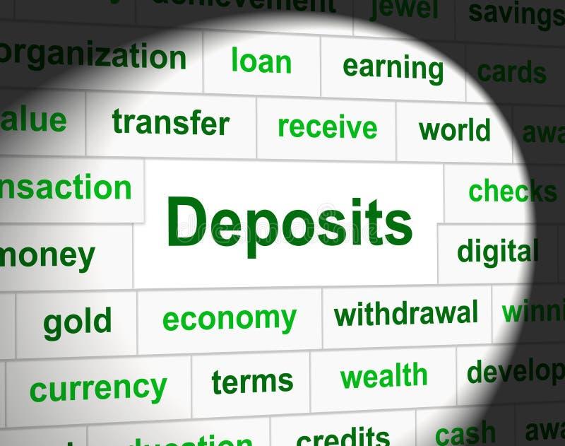 I depositi del deposito rappresenta l'acconto e l'affare royalty illustrazione gratis