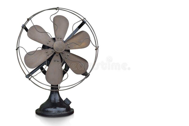 I Di hanno tagliato il fan d'ottone e nero su fondo bianco immagini stock