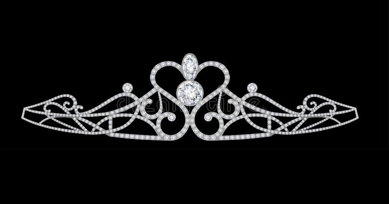 i diamanti incoronano il diadema royalty illustrazione gratis
