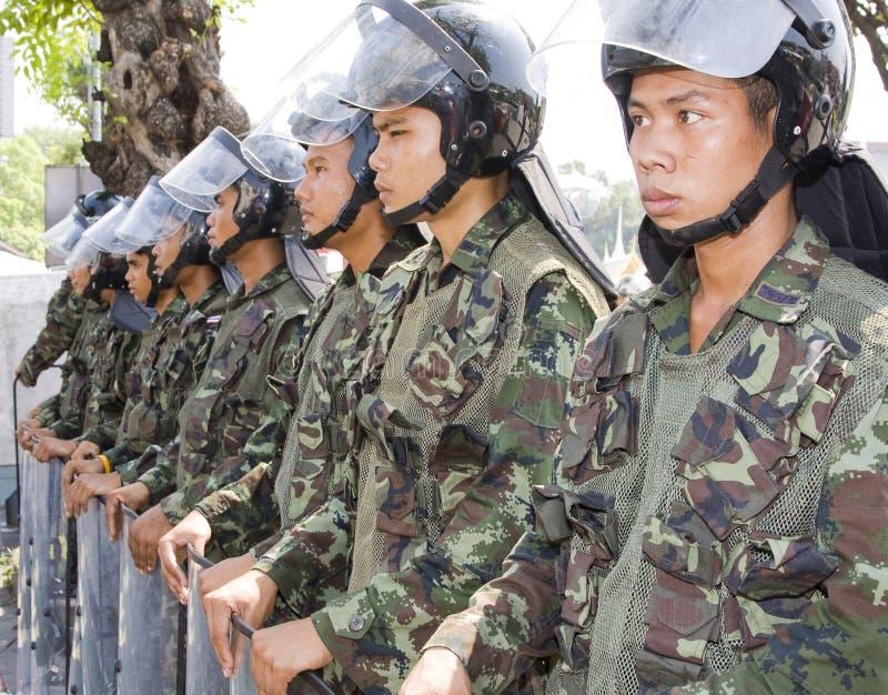 I dimostranti hanno converso sul capitale tailandese immagine stock