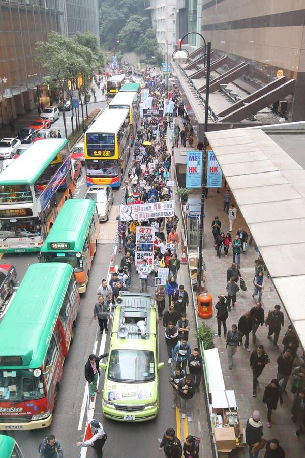 I dimostranti si radunano per richiedere le risposte per gli editori della HK di scomparsa fotografia stock
