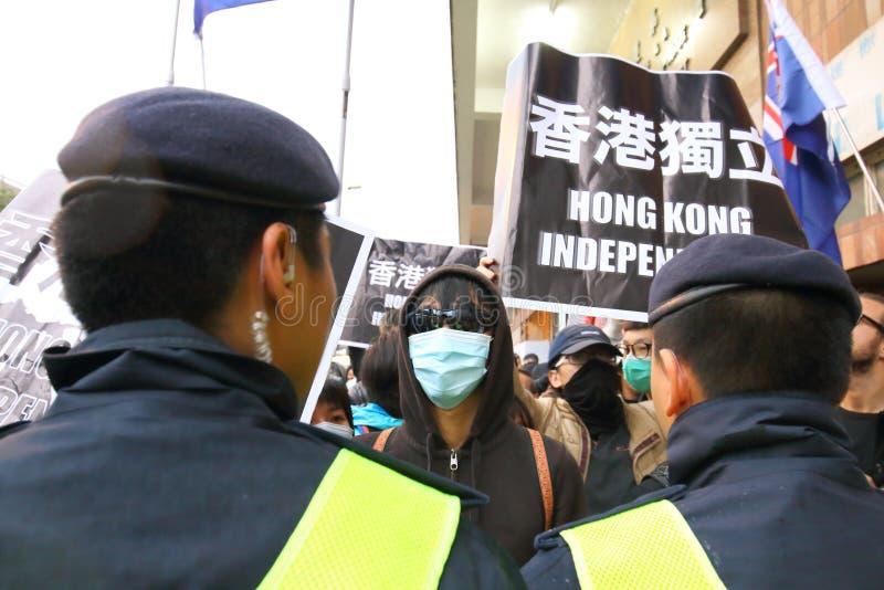 I dimostranti si radunano per richiedere le risposte per gli editori della HK di scomparsa fotografia stock libera da diritti