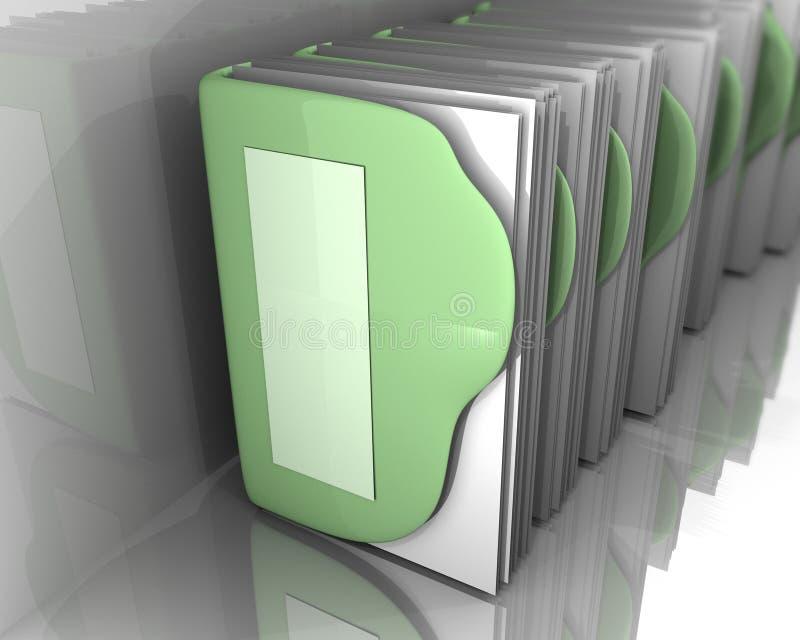 i dispositivi di piegatura di arte 3d si inverdicono i documenti interni bianchi illustrazione vettoriale