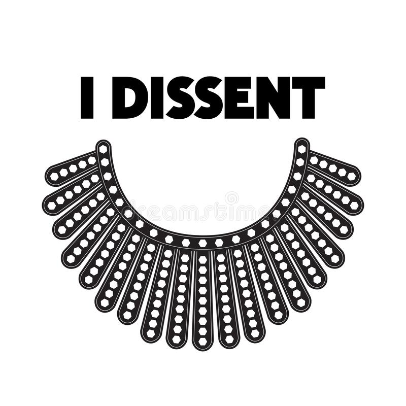 Free I Dissent Concept On White. Stock Image - 196929501