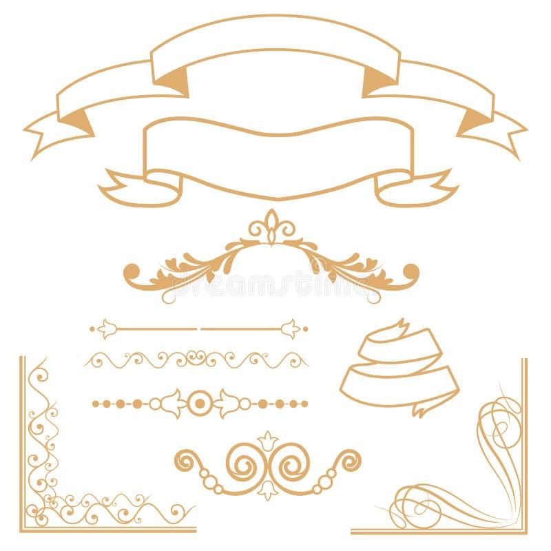 I divisori ornamentali hanno messo il fondo fotografia stock libera da diritti