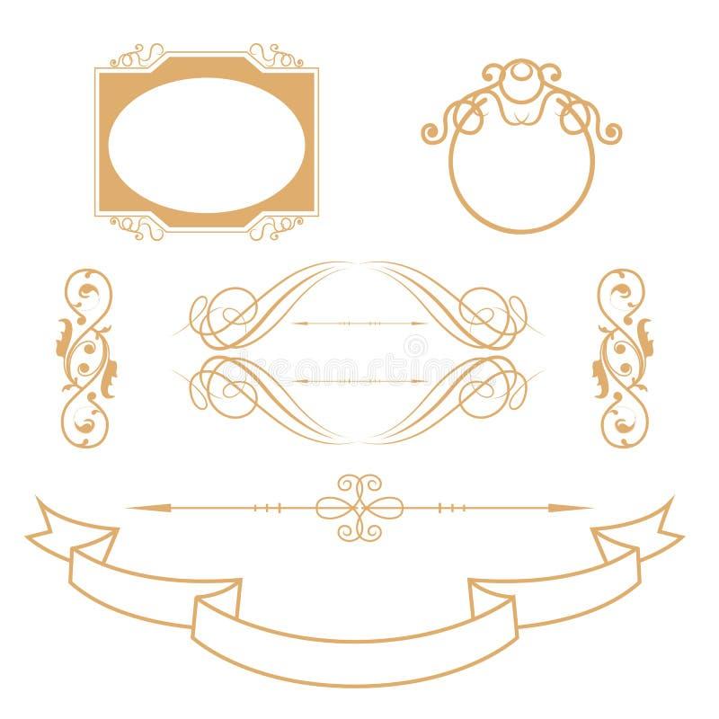 I divisori ornamentali hanno messo il fondo fotografia stock
