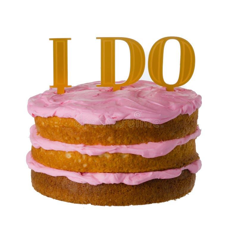 I do Cake sign stock images