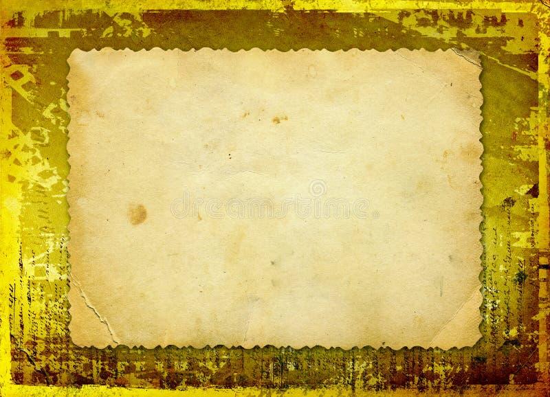 I documenti di Grunge progettano con lo spazio in bianco per testo illustrazione vettoriale