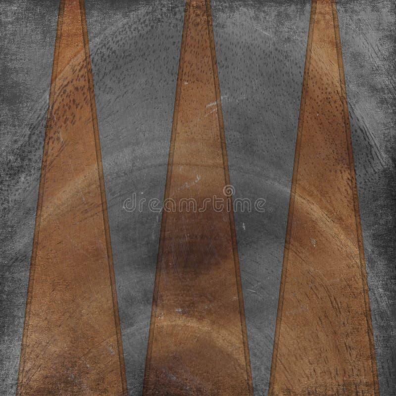 I documenti di Grunge progettano nello stile scrapbooking illustrazione vettoriale