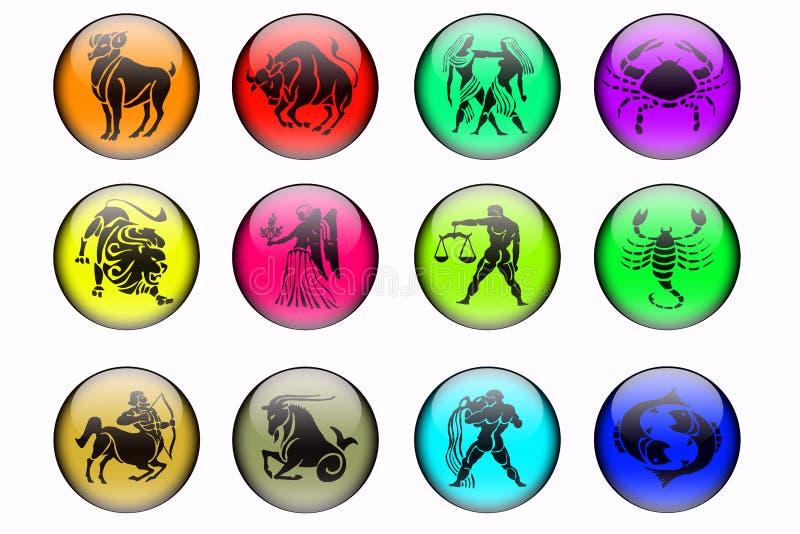 I dodici segni dello zodiaco illustrazione di stock