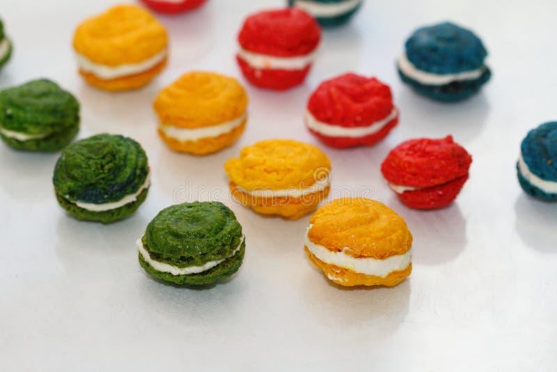 I dolci francesi della mandorla fotografia stock