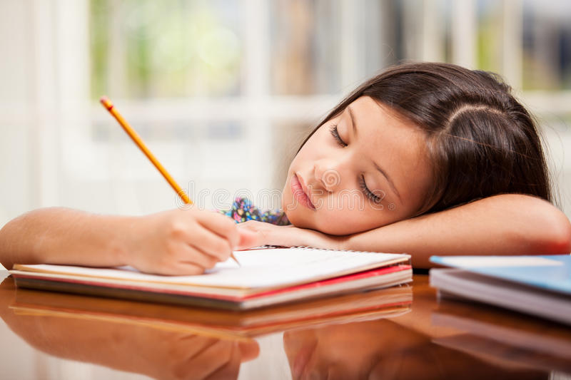 Download I don't want to study stock image. Image of pencil, writing - 34082083