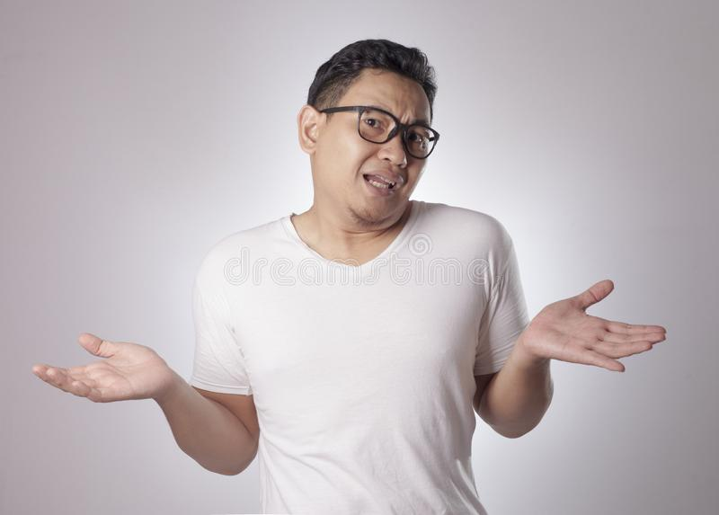 I Dont Know Gesture stock images