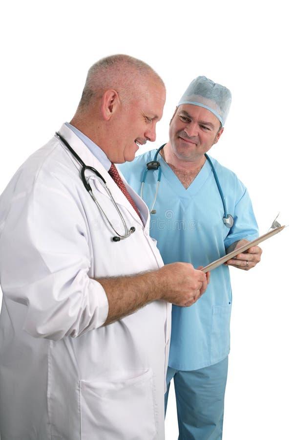 I dottori In Consultation fotografie stock
