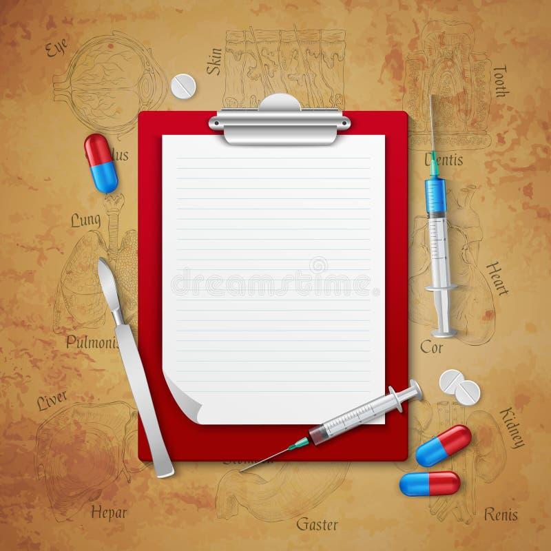 I dottori Notebook Medical Composition royalty illustrazione gratis