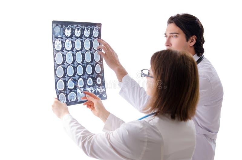 I due medici che lavorano nella clinica immagini stock libere da diritti