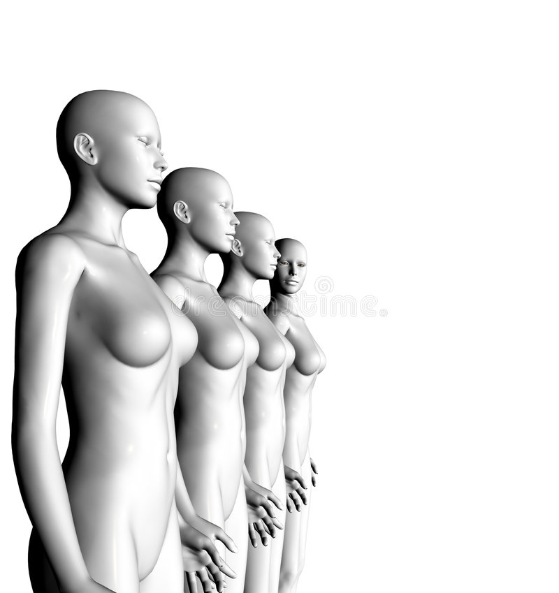 A.I. Dummy. Conceptual 3d A.I. Dummy image stock illustration