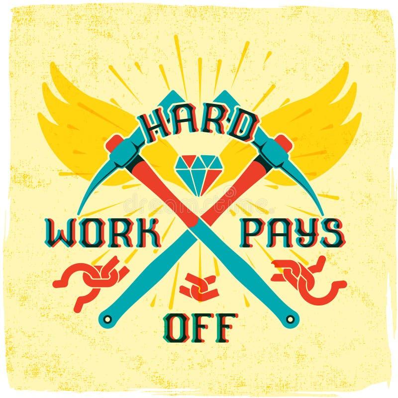I duri lavori pagano fuori illustrazione di stock