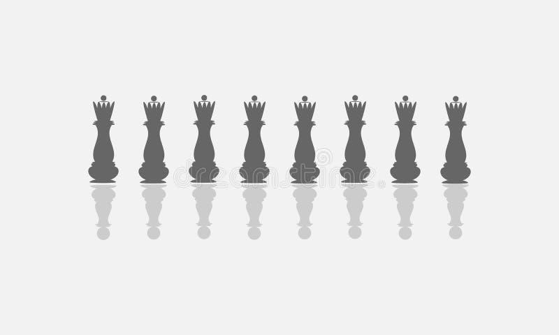 I en reflexion ser sig drottningen som en pantsätta Begreppet av ödmjukhet vektor illustrationer