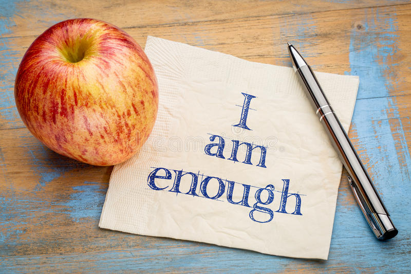 I am enough positive affirmation stock photography