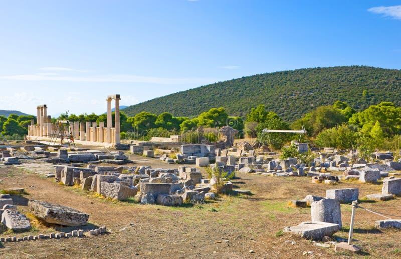 I Epidaurus arkivbild