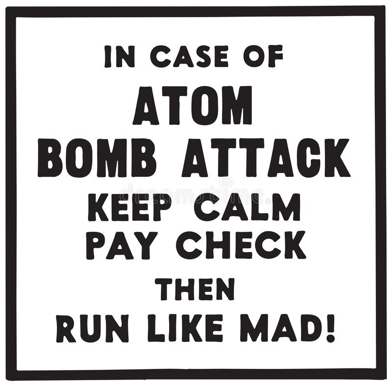 I fall att av Atom Bomb Attack stock illustrationer