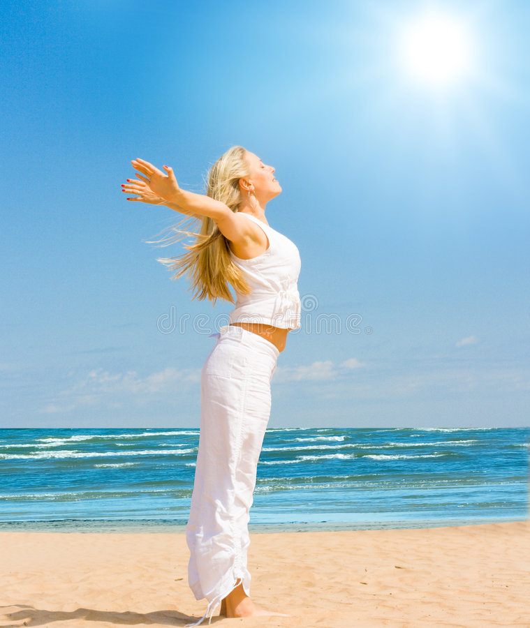 Download I feel the sun on my skin stock photo. Image of portrait - 6248082
