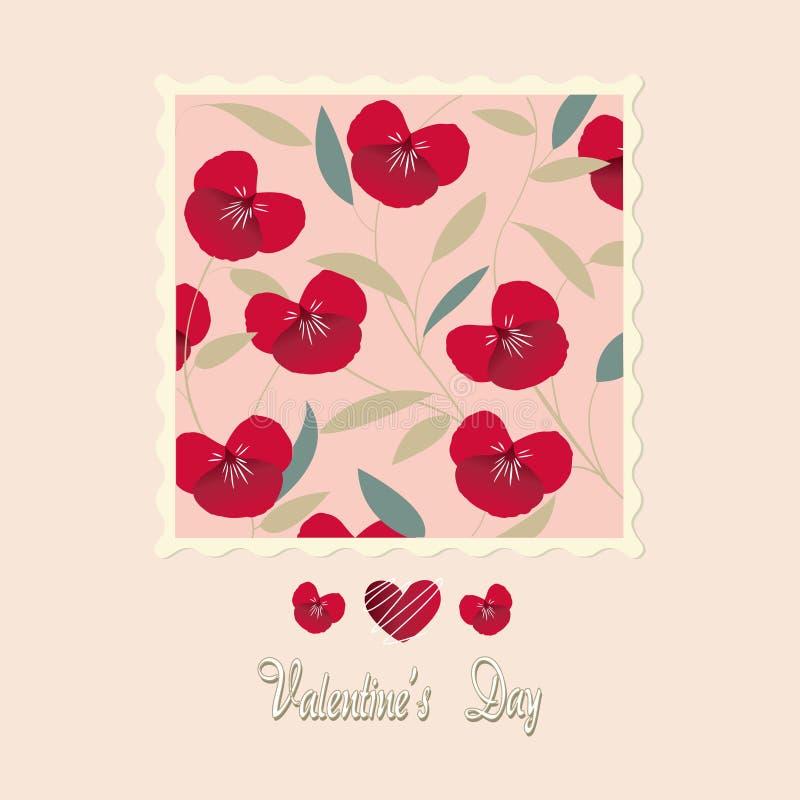 I fiori cardano, il giorno del biglietto di S. Valentino illustrazione vettoriale