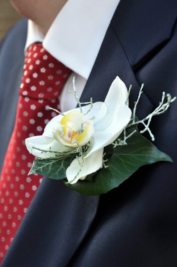 I fiori degli sposi della sposa fotografia stock