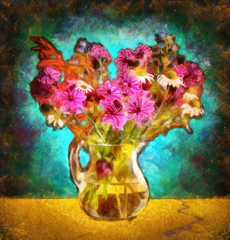 I fiori nella radura immagini stock libere da diritti