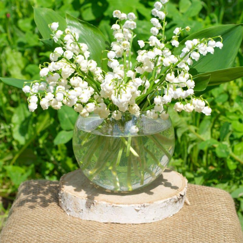 I fiori possono mughetti fotografia stock libera da diritti