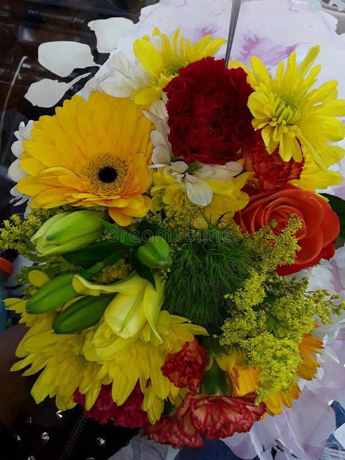 I fiori sono la cosa ad un cuore delle ragazze immagine stock
