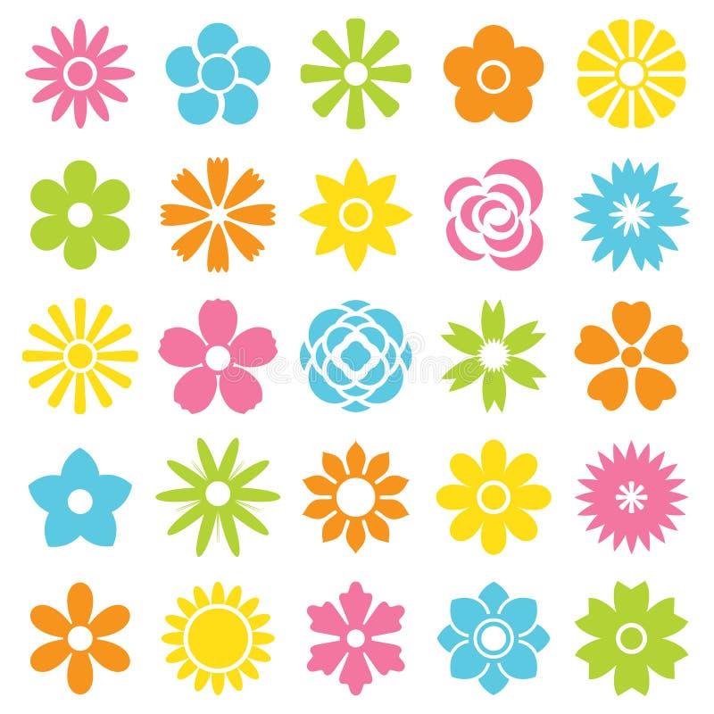I fiori vector l'insieme illustrazione di stock