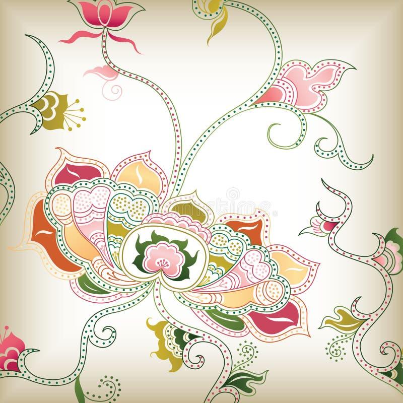 I floral abstrato ilustração stock