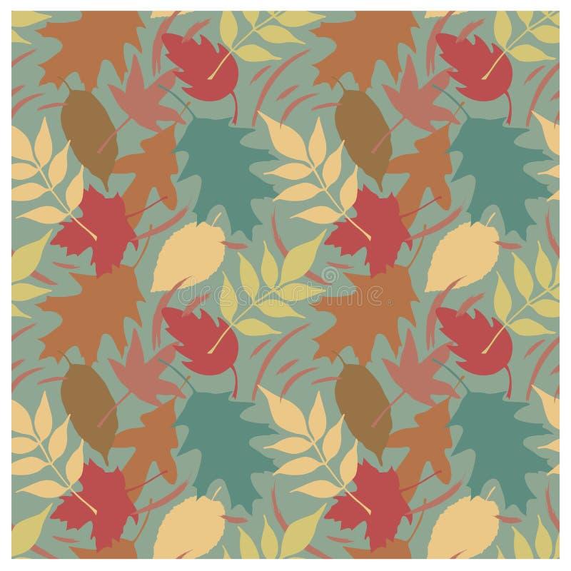 I fogli di autunno modellano A royalty illustrazione gratis