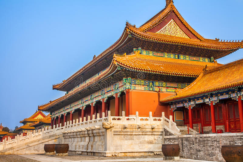I Forbiddenet City i Peking Kina royaltyfri bild