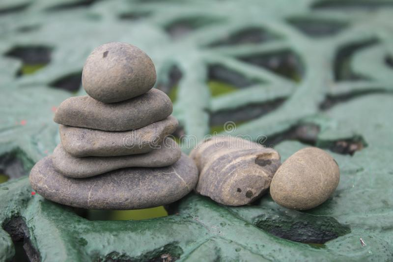 Grey rocks of the river stock photography