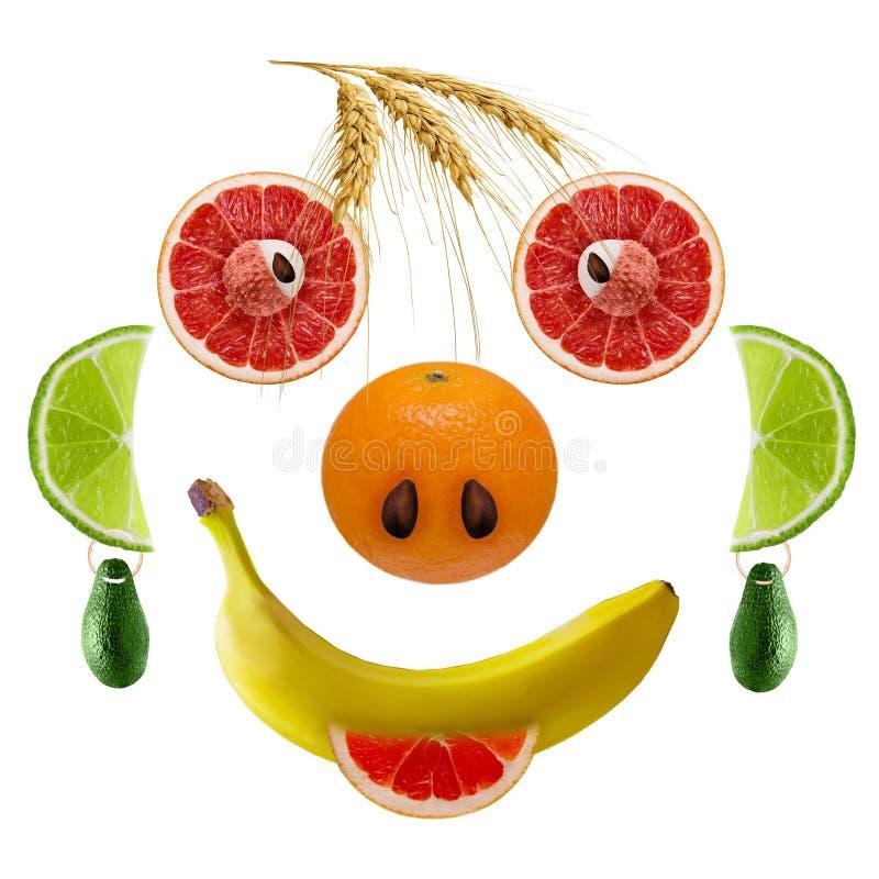 I fronti felici della frutta fresca immagini stock libere da diritti