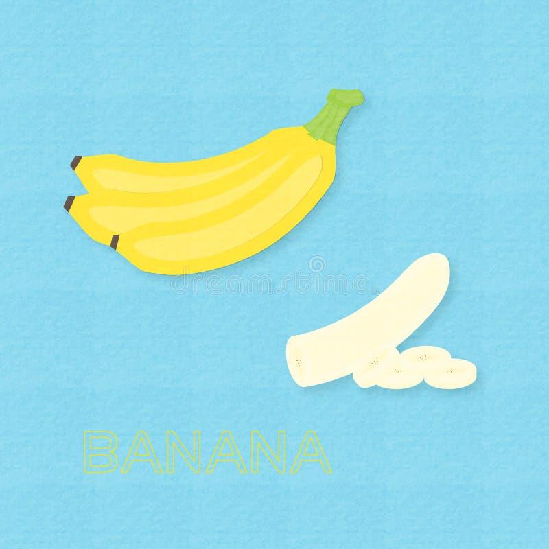 I frutti e le banane creativi della banana dell'illustrazione di vettore hanno affettato illustrazione di stock