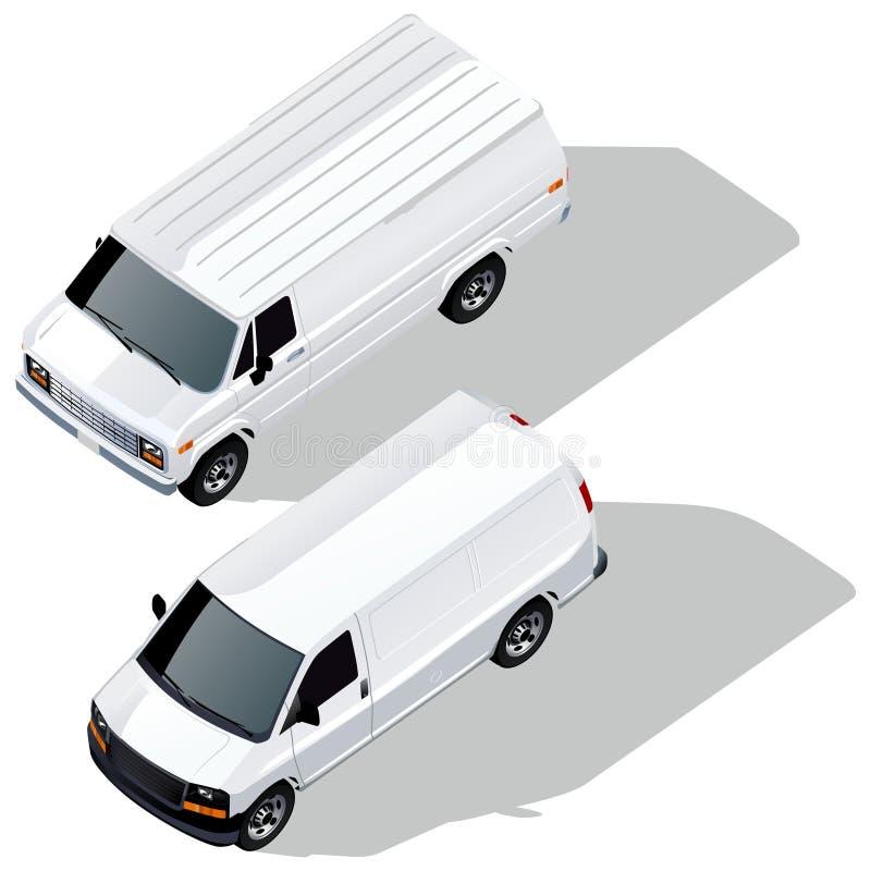 I furgoni di consegna di vettore hanno impostato royalty illustrazione gratis