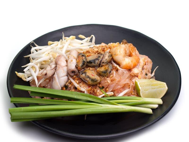 I gamberetti riempiono l'alimento tailandese e tailandese fotografie stock libere da diritti