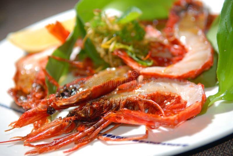 Download I Gamberi Della Tigre Hanno Fritto Su Una Griglia Immagine Stock - Immagine di prezzemolo, cuisine: 7324677