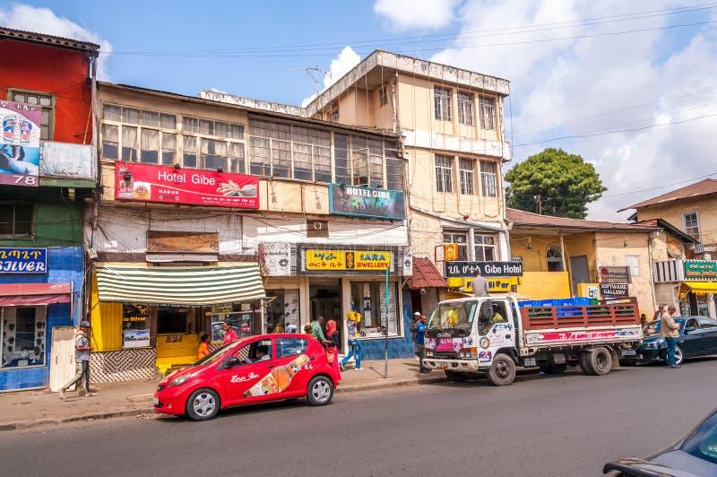 I gatorna av Addis Ababa royaltyfri fotografi