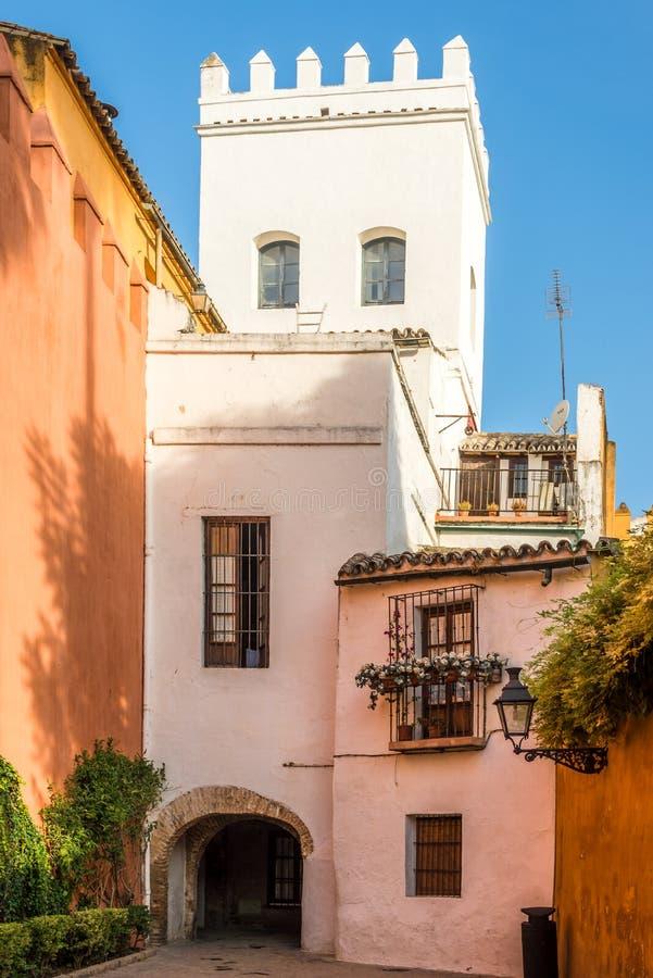 I gatorna av Sevilla - Spanien royaltyfri fotografi