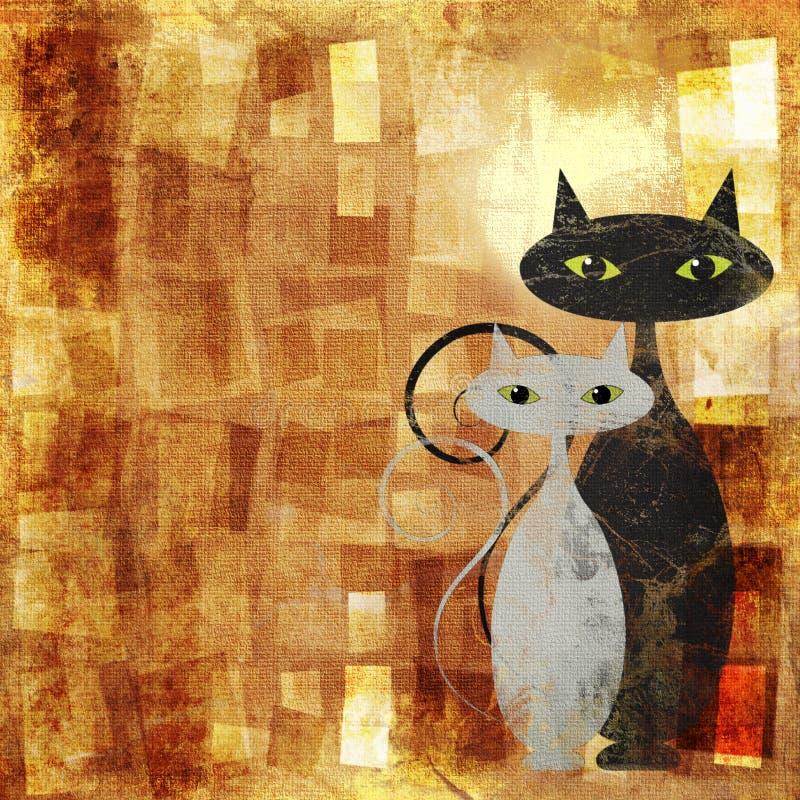 I gatti royalty illustrazione gratis