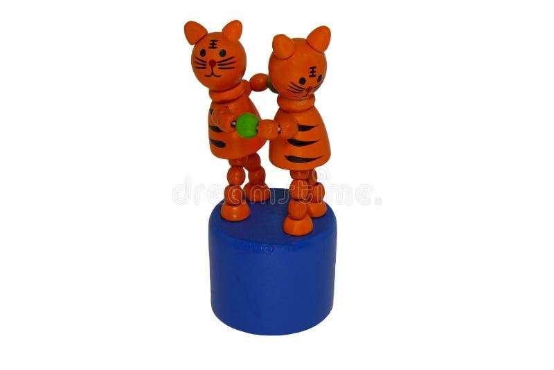I gatti rossi del ricordo due del giocattolo si tengono per mano fotografie stock libere da diritti
