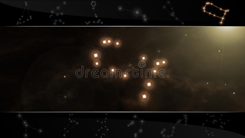 I Gemini gemellare del segno della stella illustrazione vettoriale
