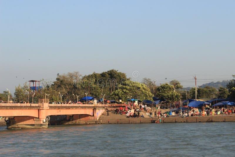 I ghats in Haritwar fotografia stock